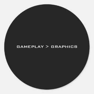 Gameplay >グラフィック。 黒い白 ラウンドシール