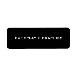 Gameplay >グラフィック。 黒い白 ラベル