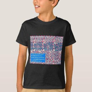 GanapatiのSanskrit信念の祈りの言葉の記号による文字のギフト Tシャツ