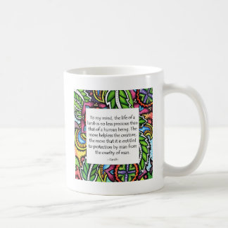 Gandhiの動物の引用文 コーヒーマグカップ