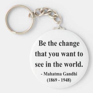 Gandhiの引用文1a キーホルダー