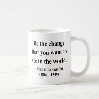 Gandhiの引用文1a コーヒーマグカップ