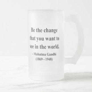 Gandhiの引用文1a フロストグラスビールジョッキ