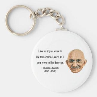 Gandhiの引用文4b キーホルダー