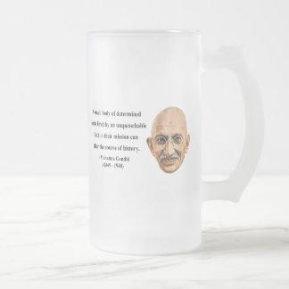 Gandhiの引用文6b フロストグラスビールジョッキ