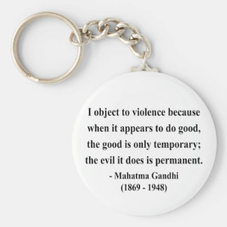 Gandhiの引用文9a キーホルダー