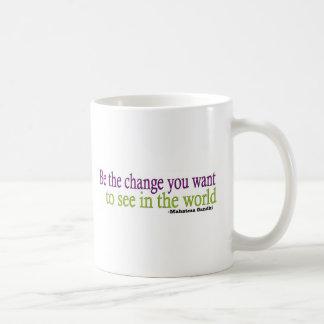 Gandhiの引用文 コーヒーマグカップ