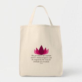 Gandhiの引用文 トートバッグ