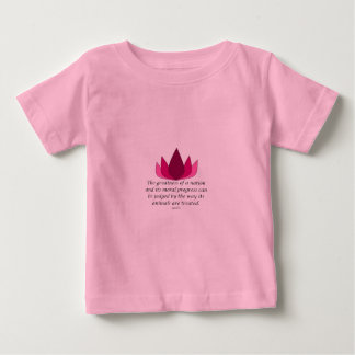 Gandhiの引用文 ベビーTシャツ