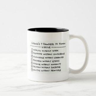 Gandhiの知恵 ツートーンマグカップ