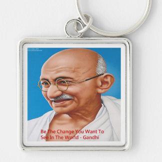 Gandhiは及び変更の引用文です キーホルダー