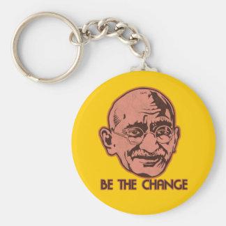 Gandhiは変更です キーホルダー