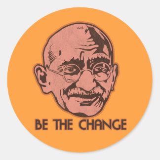 Gandhiは変更です ラウンドシール