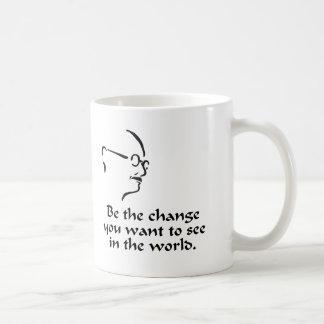Gandhi -変更 コーヒーマグカップ