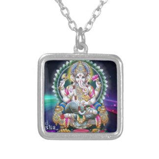 Ganeshのオーラ シルバープレートネックレス