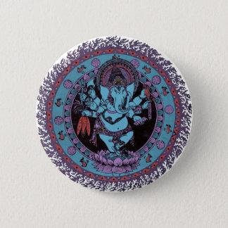 Ganeshのダンサー 5.7cm 丸型バッジ