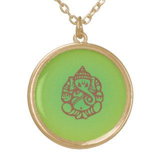 Ganeshのネックレス ゴールドプレートネックレス