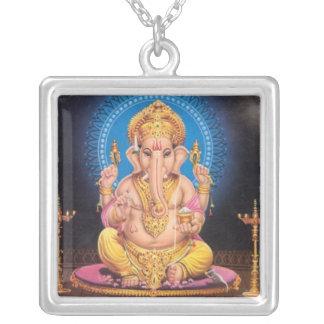 Ganeshのネックレス シルバープレートネックレス