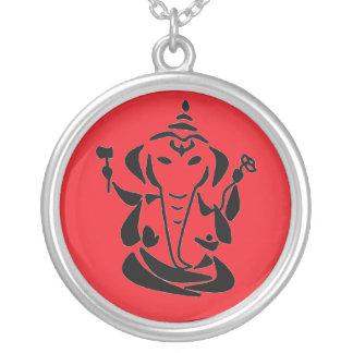Ganeshのネックレス-ヨガの宝石類 シルバープレートネックレス