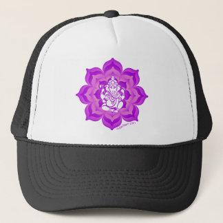 Ganeshの紫色のデザイン キャップ