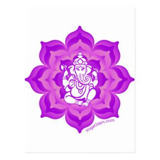 Ganeshの紫色のデザイン ポストカード