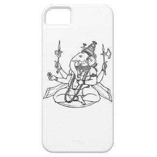 Ganeshの運のヒンズー教の神 iPhone SE/5/5s ケース