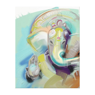Ganesh主のバックラム キャンバスプリント
