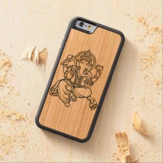 """Ganesh電話箱"" CarvedチェリーiPhone 6バンパーケース"