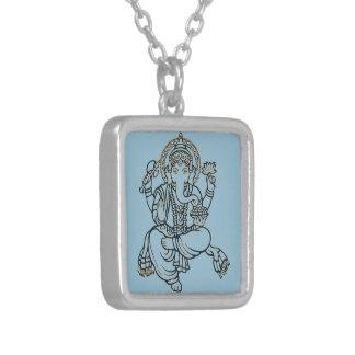 Ganesh シルバープレートネックレス
