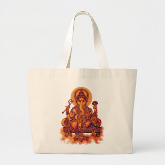 Ganesh -障害の除去剤 ラージトートバッグ
