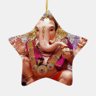 Ganesh Ganeshaヒンズー教のインドのアジアゾウの神 セラミックオーナメント