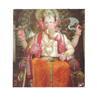 Ganesh Ganeshaヒンズー教のインドのアジアゾウの神 ノートパッド