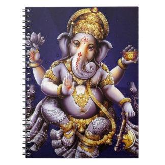 Ganesh Ganeshaヒンズー教のインドのアジアゾウの神 ノートブック