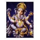 Ganesh Ganeshaヒンズー教のインドのアジアゾウの神 ポストカード