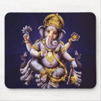 Ganesh Ganeshaヒンズー教のインドのアジアゾウの神 マウスパッド