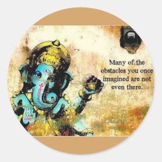 Ganesh Ganeshaヒンズー教のインドのアジアゾウの神 ラウンドシール