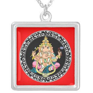 Ganesh [Ganesha]純銀製のペンダントのネックレス シルバープレートネックレス