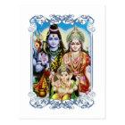 Ganesh、ShivaおよびParvatiのGanesha、Durga主 ポストカード