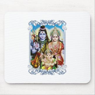 Ganesh、ShivaおよびParvatiのGanesha、Durga主 マウスパッド