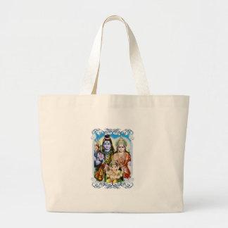 Ganesh、ShivaおよびParvatiのGanesha、Durga主 ラージトートバッグ