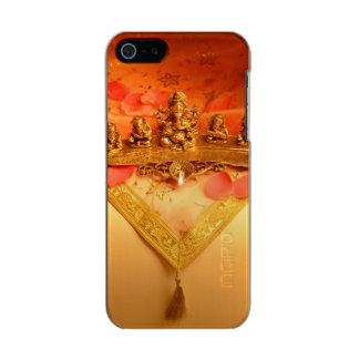 Ganeshaの偶像が付いているインドランプ メタリックiPhone SE/5/5sケース