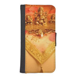 Ganeshaの偶像が付いているインドランプ iPhoneSE/5/5sウォレットケース