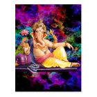 Ganeshaの挨拶状、ステッカー、郵便はがき ポストカード