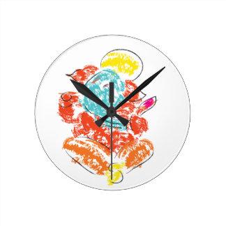 Ganeshaの柱時計 ラウンド壁時計