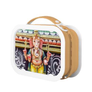 Ganeshaの神の彫像のランチボックス ランチボックス