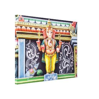 Ganeshaの神の彫像 キャンバスプリント