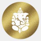 Ganeshaの金グリッター ラウンドシール
