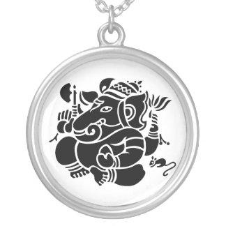 Ganesha主 シルバープレートネックレス