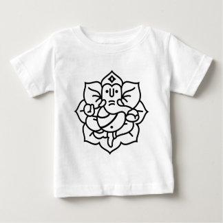 Ganesha象第2 (黒) ベビーTシャツ