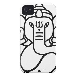 Ganesha象第3 (白黒) Case-Mate iPhone 4 ケース